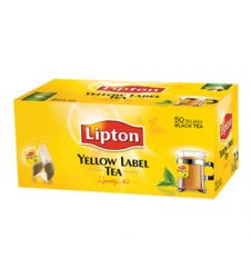 Lipton Yellow Label Tea Bag - Black (50 Sachet Pack)