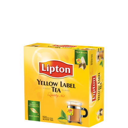 Lipton Yellow Label Black (100 Sachet)