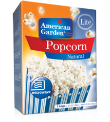 American Garden Popcorn Natural Lite (273gm)