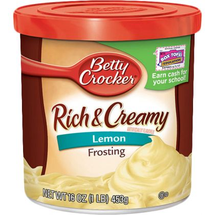 Betty Crocker Rich And Creamy Lemon Frosting (453gm)