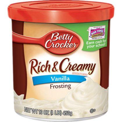 Betty Crocker Rich And Creamy Vanilla Frosting 453gm)