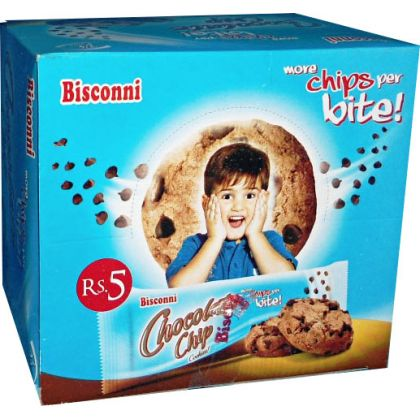 Bisconni Chocolate Chip Kite Biscuit (24 Ticky Packs Box)