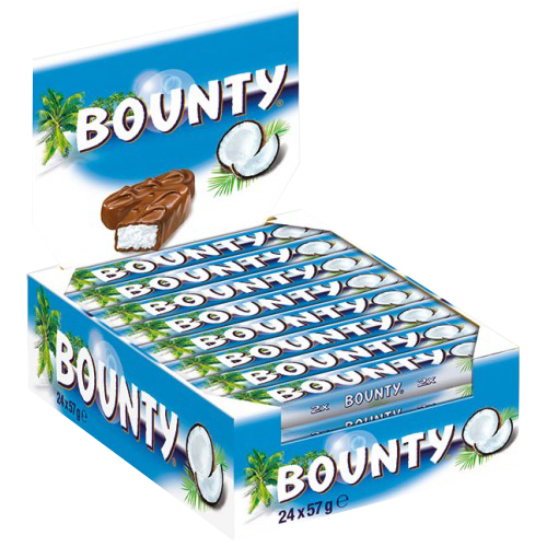 Bounty Chocolate 24x57gm Chocolates Amp Sweets Gomart Pk