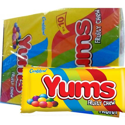 Candyland Yums Fruity Chew (18x30gm)