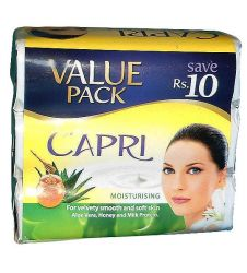 Capri Moisturising Aloe Vera Honey Milk Protein Value Pack Soap (3x115gm)