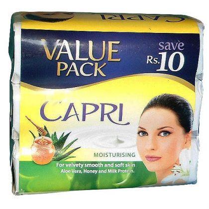 Capri Moisturising Aloe Vera Honey Milk Protein Value Pack Soap (3x115gm)