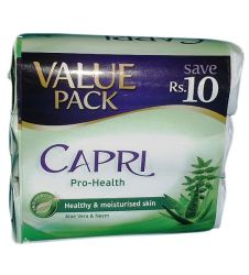 Capri Pro Health Aloe Vera and Neem Value Pack Soap (3x115gm)