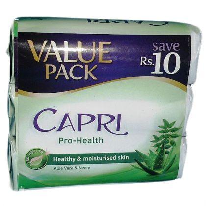 Capri Pro Health Aloe Vera and Neem Value Pack Soap (3x115gm)