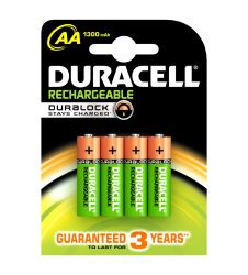 Duracell Rechargeable AA4 1300 maH