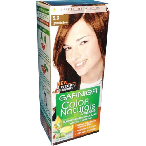 335b88e2b5d Garnier Color Naturals No. 5.3 (light Golden Brown) - Hair Color   Dye