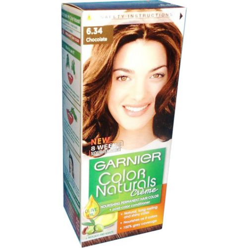 Garnier Color Naturals No 634 Chocolate Brown  Hair Color Amp Dye  Go