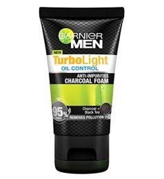 Garnier Men Turbo Light Charcoal Black Facial Foam (100ml)