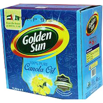 Golden Sun Canola Oil (1x5Ltr)