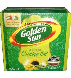 Golden Sun Cooking Oil (1ltrx5)