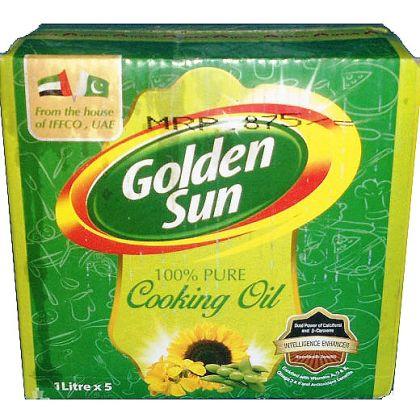 Golden Sun Cooking Oil (1ltrx5)