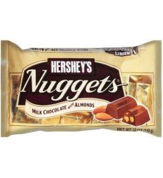 Hershey's Nuggets Milk Chocolate With Almonds (340gm)