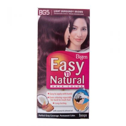 Bigen Light Burgundy Brown Hair Colour Bg5