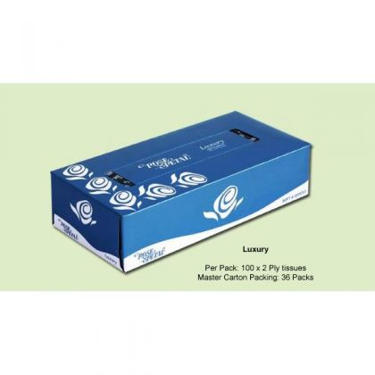 ROSE PETAL LUXURY FACIAL TISSUES (100s)