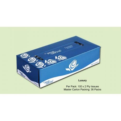 Rose Petal Luxury Facial Tissues 100s Tissue Papers