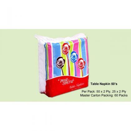 Rose Petal Table Napkins (50S)