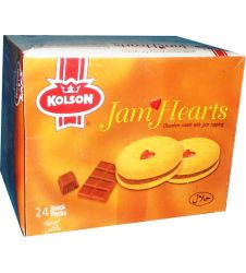 Jam Hearts Biscuit - Chocolate (24 Ticky Pack Box)