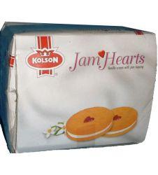 Jam Hearts Biscuit - Vanilla (Half Roll Box)