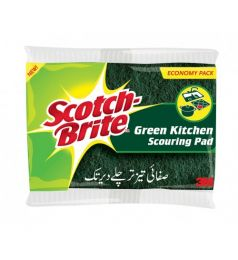 SCOTCH BRITE GREEN KITCHEN SCOURING PAD (3PCS)