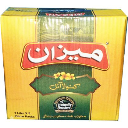 Mezan Canola Cooking Oil (1Ltr X 5)
