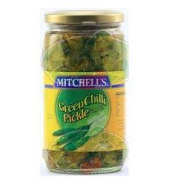 Mitchell's Green Chilli Pickle (340G)