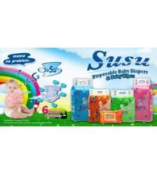 Susu Diapers Economy Pack Small (36Pcs)
