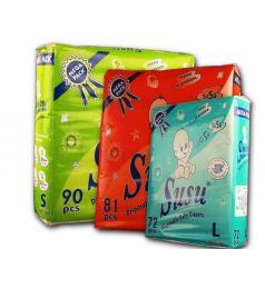 Susu Diapers Mega Pack Medium (81Pcs)