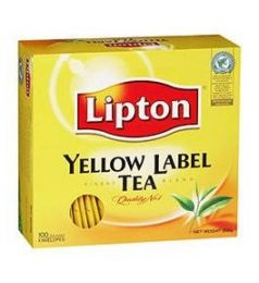 Lipton Yellow Label Tea Bag - Black (100 Sachet Pack)