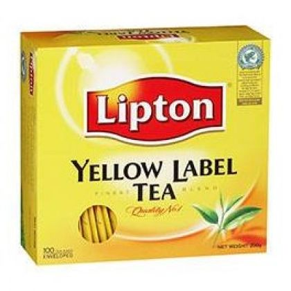 Lipton Yellow Label Tea Bag - Black (100 Sachet Pack)