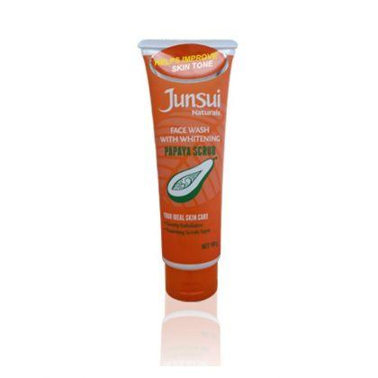 Junsui Face Wash With Whitening - Papaya Scrub