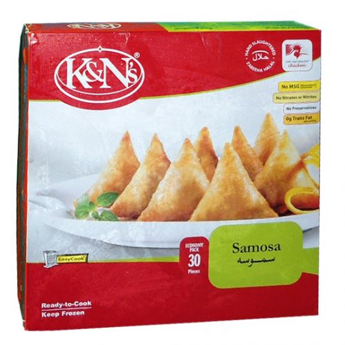 K&n's Chicken Samosa Economy Pack (30 Pieces) - Ready to