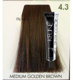Keune Tinta Color  Medium Golden Brown 4.3