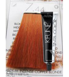 Keune Tinta Color Medium Intense Copper Blonde 7.44
