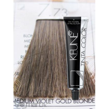 Keune Tinta Color Medium Violet Gold Blonde 7.73