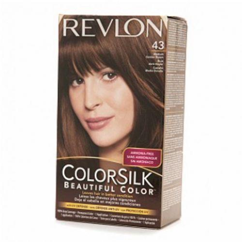 revlon colorsilk hair color dye medium golden brown 43