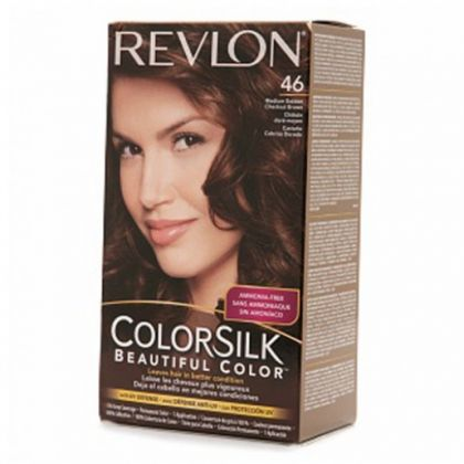 Revlon Colorsilk Hair Color Dye  Medium Golden Chestnut Brown 46  Hair Colo