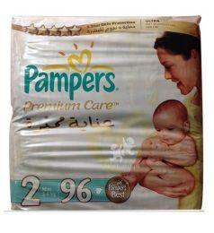 Pamper Diapers Premium Care 2 (3-6 Kg) 96 Pcs