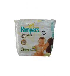 Pamper Diapers Premium Care 3 (4-9 Kg) 20 Pcs