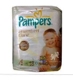 Pamper Diapers Premium Care 4 (7-18kg) 18 Pcs
