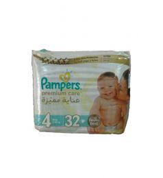 Pamper Diapers Premium Care 4 (7-18kg) 32 Pcs