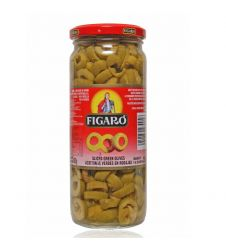 Figaro Sliced Green Olives (480gm)