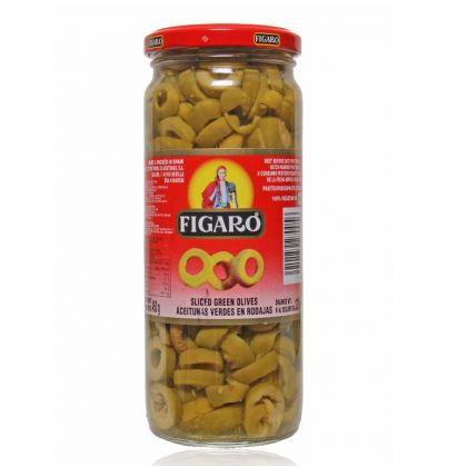 Figaro Sliced Green Olives (480gm)