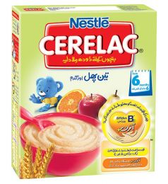 Nestle Cerelac Cereal 3 Fruits & Wheat  (175gm)