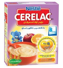 Nestle Cerelac Cereal Apple + Orange  (175gm)