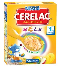 Nestle Cerelac Cereal Yellow Fruit  (175gm)