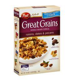 Post Great Grains Raisin, Date & Pecan Cereal (453gm)